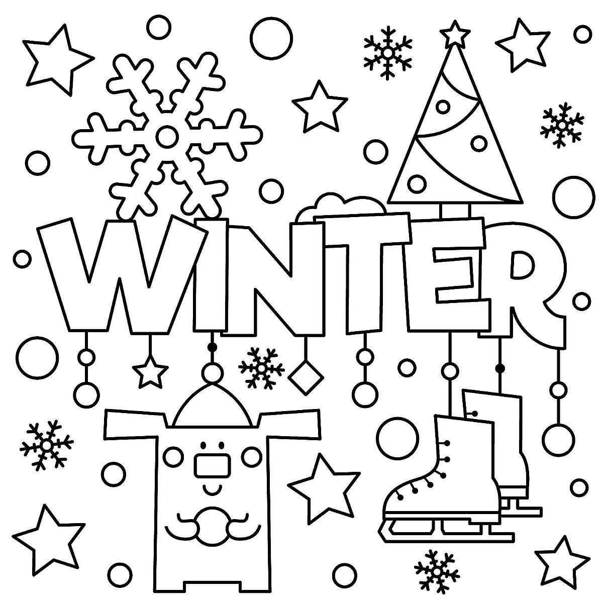 Print Out These Fun Winter Coloring And Activity Pages Grab A Box Of Crayons Set Your Kids At The Table Listen Shhh To Magic Happen