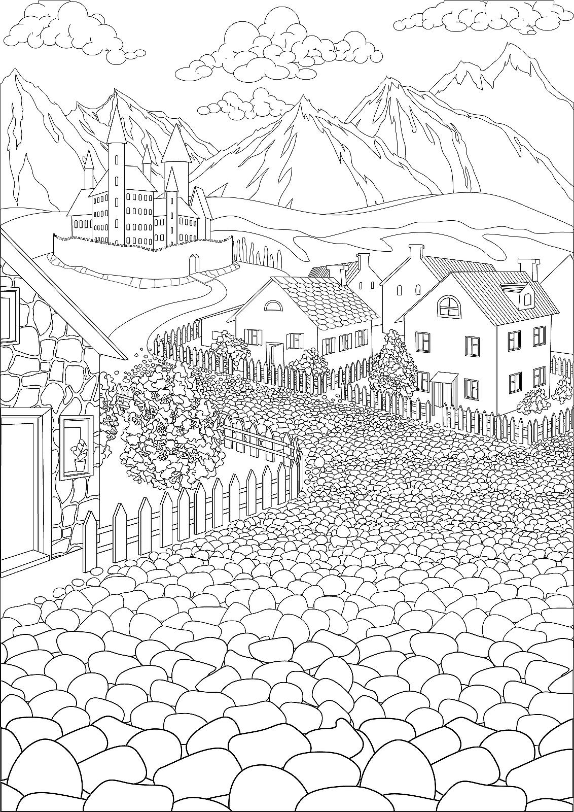 Travel Coloring Pages 18 Printable Coloring Pages for Adults of ...