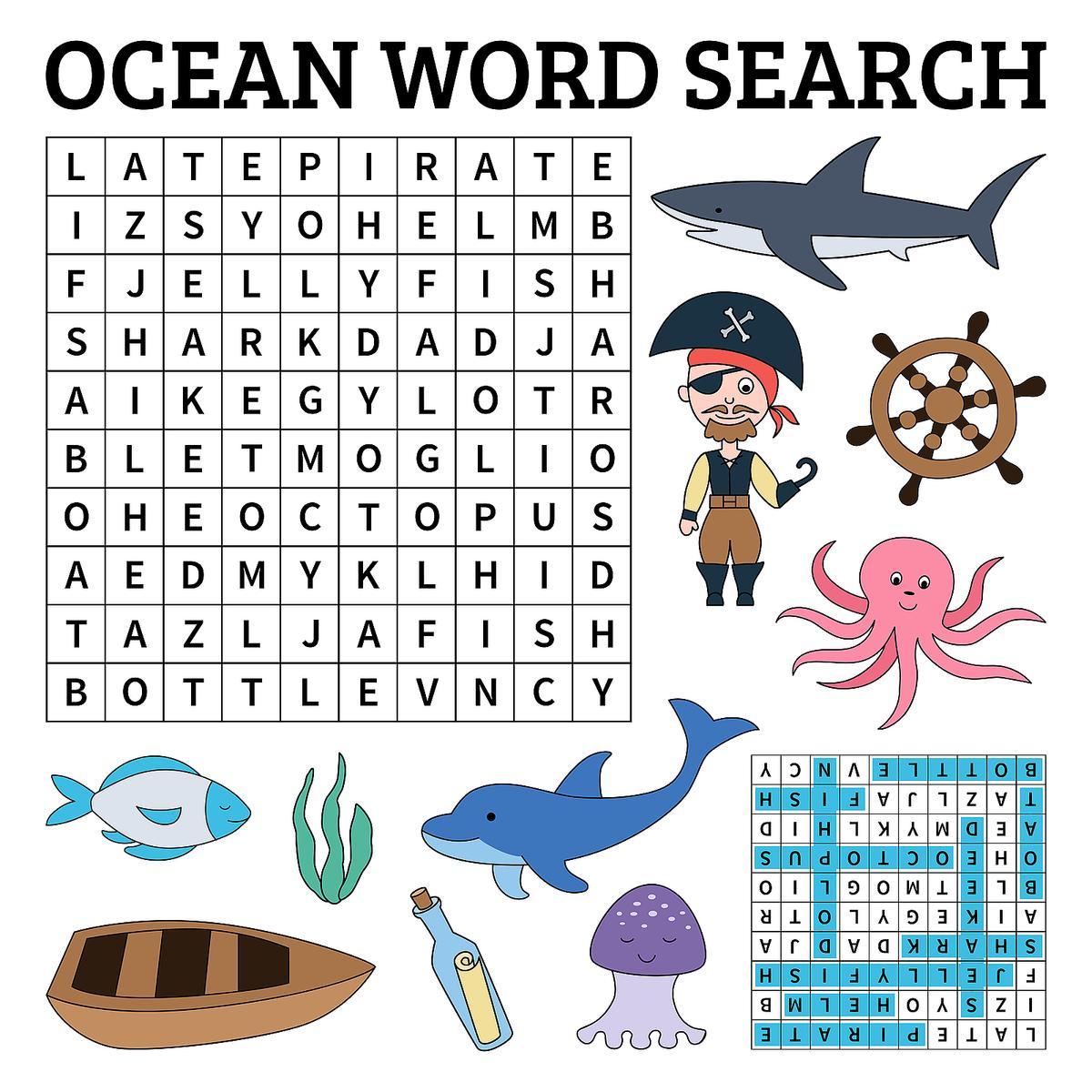 Printable Word Search Puzzles for Kids: 10 Activities That ...