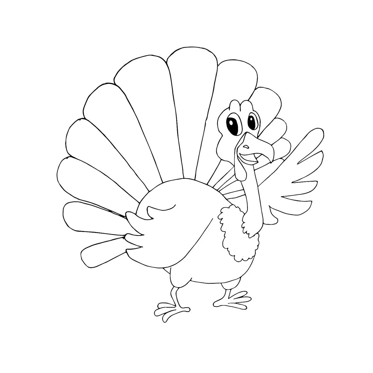It is a photo of Printable Turkeys Pictures inside thanksgiving