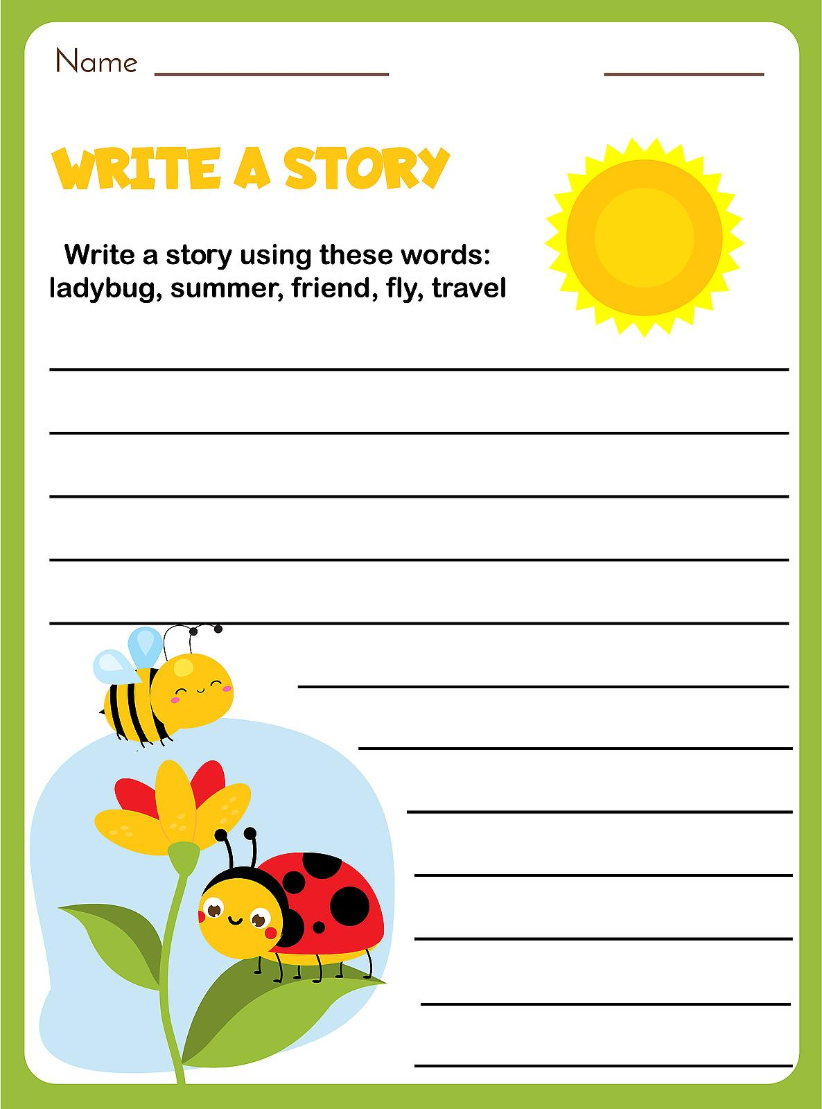 writing prompts for kids 12 fun blank printable writing