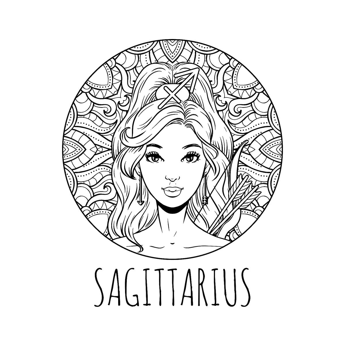 Zodiac Sign Coloring Pages: 12 Printable Zodiac Coloring ...