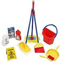 10-Piece Kids Pretend Play Cleaning Set