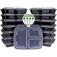3-Compartment Bento Lunch Boxes With Lids