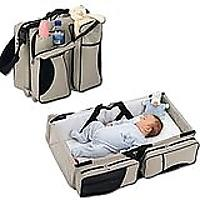 3-in-1 Diaper Bag With Travel Bassinet