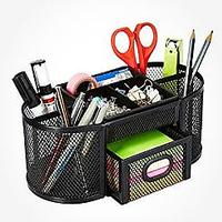 AmazonBasics Mesh Pen and Pencil Desk Office Organizer