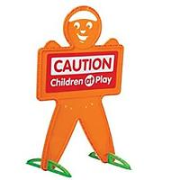 American Plastic Toys Safety Man Caution Sign