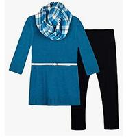 Amy Byer Girls' 7-16 Sweater and Legging Clothing Set Outfit With Scarf