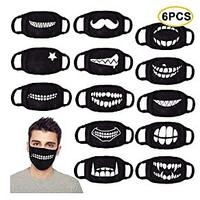 Anime Unisex Cotton Face Masks (6 Pack)