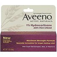 Aveeno Anti-Itch Cream, 1% Hydrocortisone