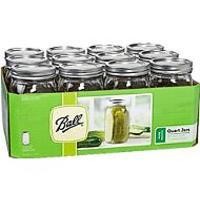 Ball Mason Wide Mouth Quart Jars With Lids & Bands