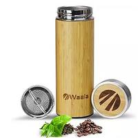 Bamboo Tumbler Cup With Stainless Steel Tea Infuser