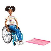 Barbie Fashionistas Doll, Brunette With Rolling Wheelchair and Ramp