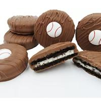 Baseball Chocolate-Covered Cookies