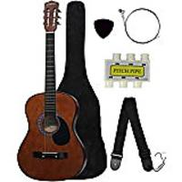 Beginner's Acoustic Guitar With Guitar Case, Strap, Tuner & Pick