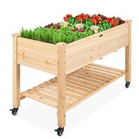 Best Choice Products Raised Garden Bed 48x24x32-inch Mobile Elevated Wood Planter (Kaira's Choice)