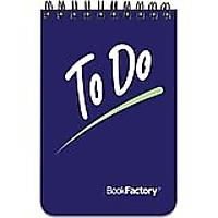 BookFactory To Do List Notebook
