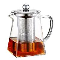 Borosilicate Glass Tea Pot With Removable Stainless Steel Infuser