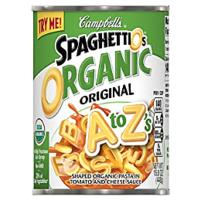 Campbell's SpaghettiOs Canned Pasta, Organic A to Zs (12 Pack