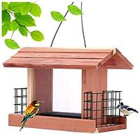 Cedar Bird Feeder With Suet Cages