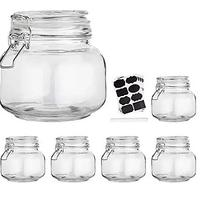 Clear Jars With Locking Lids