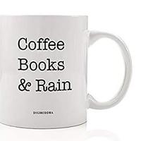Coffee, Books & Rain Mug