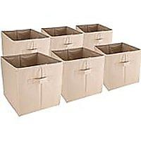 Collapsible Fabric Storage and Display Baskets