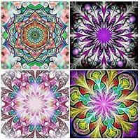 Colorful Mandala Diamond Paintings (Set of 4)