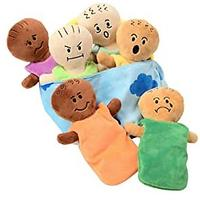 Constructive Playthings Expression Babies Plush Dolls, 6 Dolls