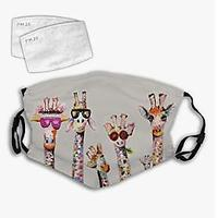 Cool Giraffes Face Mask (Includes 2 Filters)