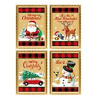 Country Christmas Diamond Art Kit 4 Pack