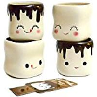 Marshmallow Shaped Hot Chocolate Mugs, Set of 4
