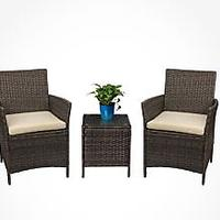 Devoko Patio Porch Furniture Set (Brown)
