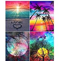 Diamond Painting Kit Landscape (Set of 4)