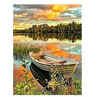 Diamond Painting Lake Boat Kit