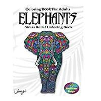 Elephants Coloring Book For Adults
