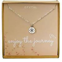 Enjoy the Journey Sterling Silver Necklace