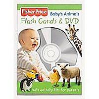 Fisher Price Baby's Animals Flashcards & DVD