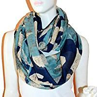 Floral Light Infinity Scarf