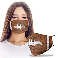 Football 3D Design Face Mask