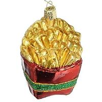 French Fries Glass Ornament