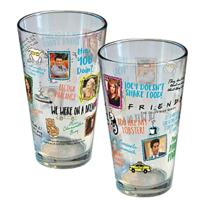 Friends Famous Quotes Pint Glass