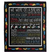 Friends Quotes Blanket