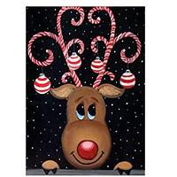 Fun Reindeer Holiday Diamond Art Kit