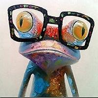 Gecko With Glasses