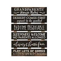 """Grandparents """"House Rules"""" Sign"""
