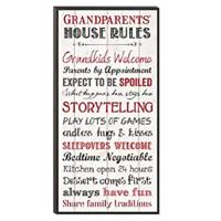 Grandparents' House Rules Wall Art