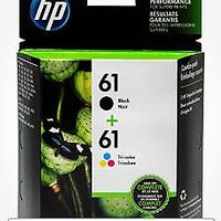 HP 61 Black Ink Cartridge HP 61 Tri-Color Ink Cartridge (2 Cartridges)