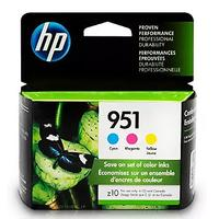 HP 951 Ink Cartridges: Cyan, Magenta & Yellow (3 Cartridges)