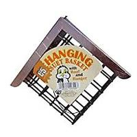 Hanging Suet Basket With Roof (Bestseller)